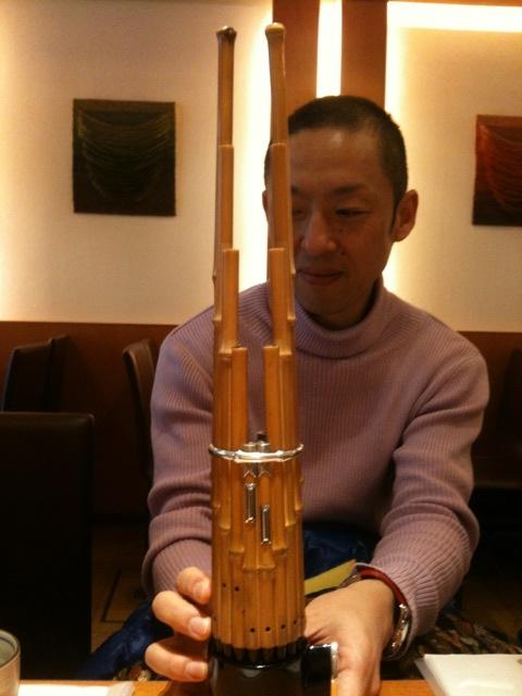石川高さんと笙